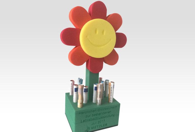 OPT-I-STORE Anwendungen: Blumengeschenk, Give-Aways mit Personalisierung