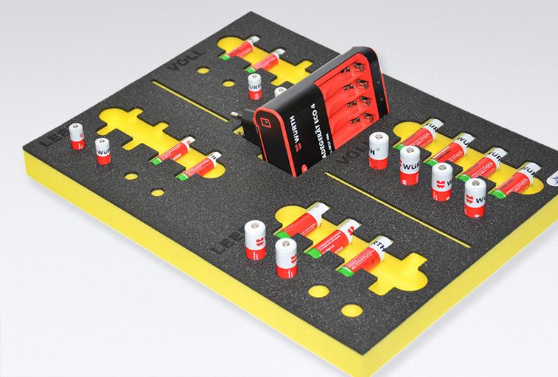 Batterien verpacken mit OPT-I-STORE